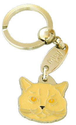 British Shorthair cream - pet ID tag, dog ID tags, pet tags, personalized pet tags MjavHov - engraved pet tags online